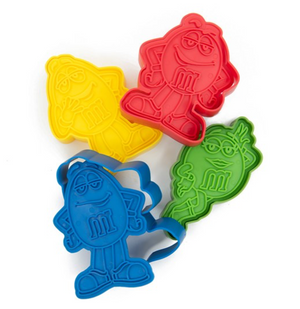 M&M's World Character Cookie Cutters Set of 4 New Sealed