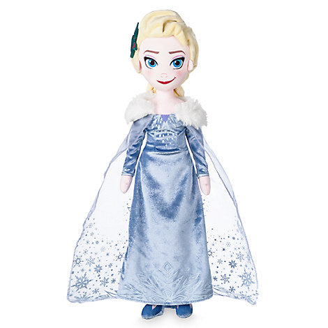 Disney Store Elsa Plush Doll - Olaf's Frozen Adventure - Medium - 19'' New with Tag
