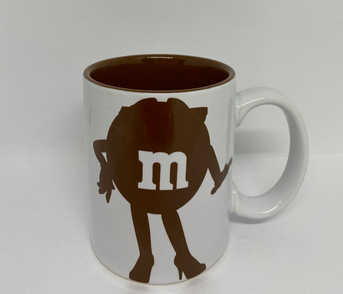 M&M's World Brown Silhouette Oh Honey I Simply Don't Care Coffee Mug New