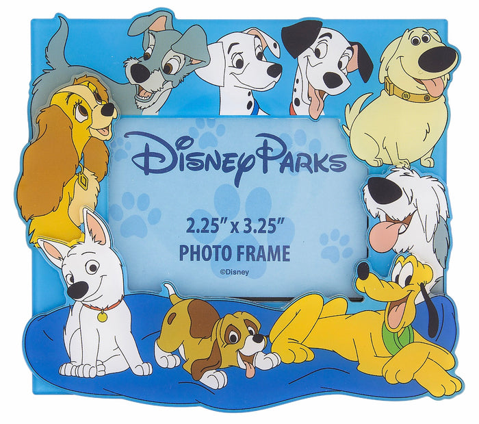 Disney Parks Magnetic Photo Frame Dogs Lady Trump Pluto Bolt New