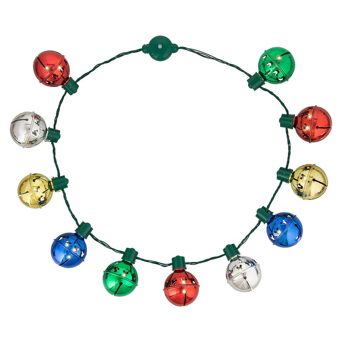 Disney Parks Mickey Mouse Jingle Bell Light-Up Necklace New with Tags