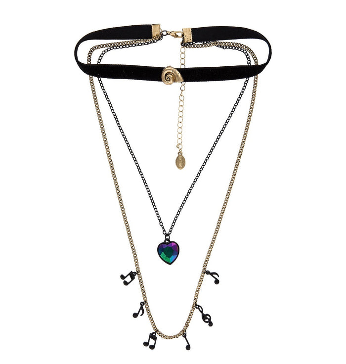 Disney Parks The Little Mermaid Ursula Choker & Layered Necklace New with Tags