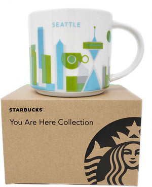Starbucks You Are Here Seattle Washington Ceramic Coffee Mug New with Box