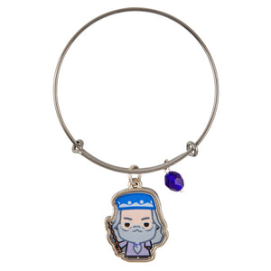 Universal Studios Harry Potter Professor Dumbledore Silver Charm Bangle New Tag