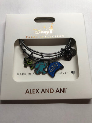 Disney Parks Monsters University Bracelet Alex & Ani Gold Metal New with Tag