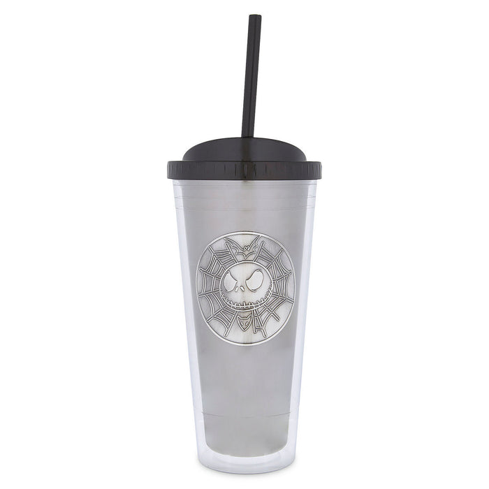 Disney Parks Jack Skellington Double Wall Tumbler with Straw Jack is Back New