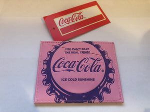 Authentic Coca-Cola Coke Pin Bottle Cap ID Case New with Tags