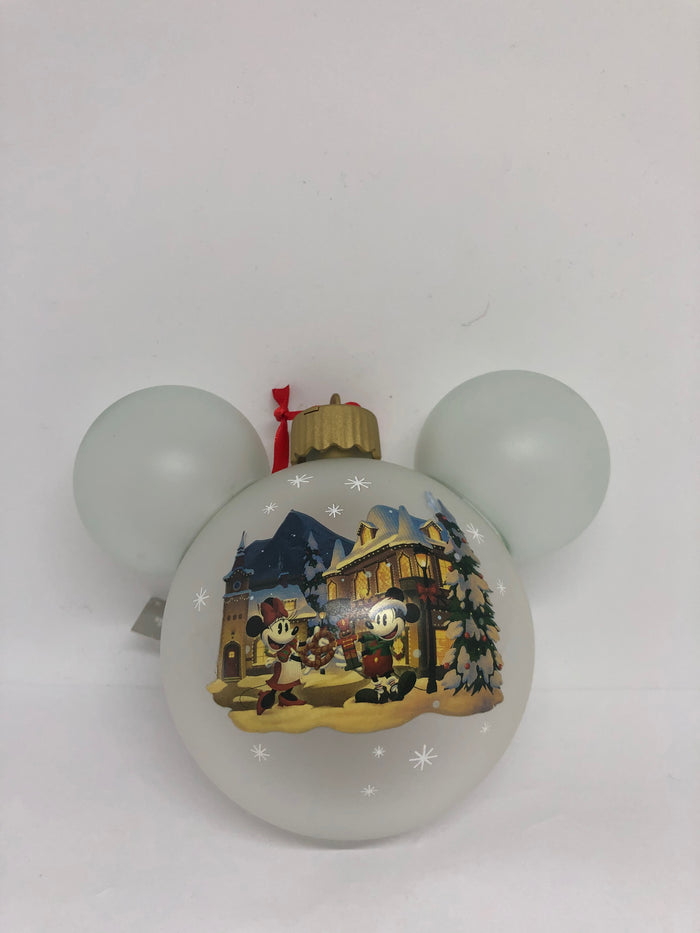 Disney Epcot Germany Mickey Minnie Frohliche Weihnachien Light Up Ornament New