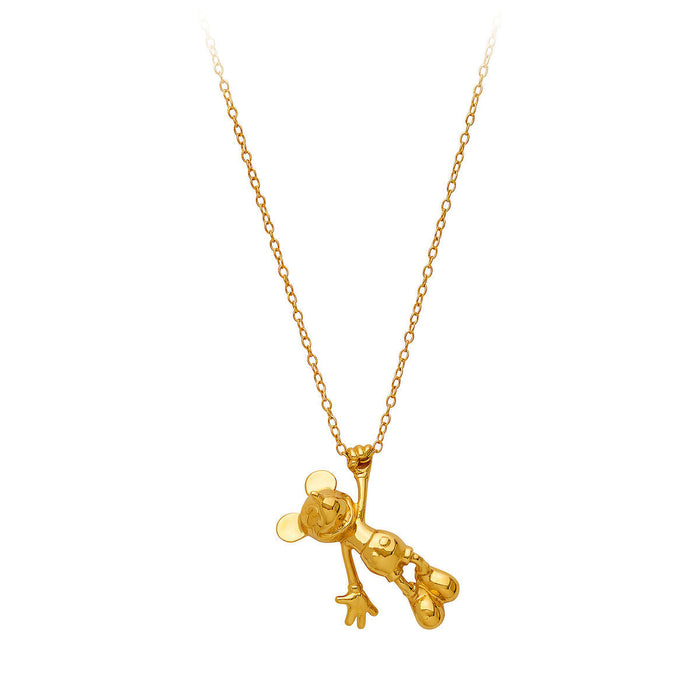 Disney Mickey The True Original Gold Collection Rock Love Necklace New with Box