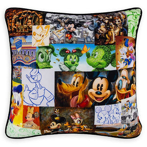 Disney Parks Tribute Mickey Mouse and Friends Pillow New with Tags