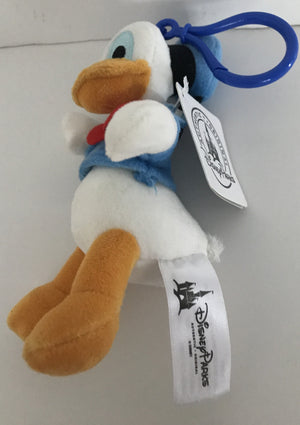 "Disney Parks 6"" Donald Keychain Plush New With Tags"