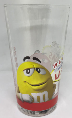 M&M's World Welcome to Fabulous Las Vegas Sign Characters Pint Glass New