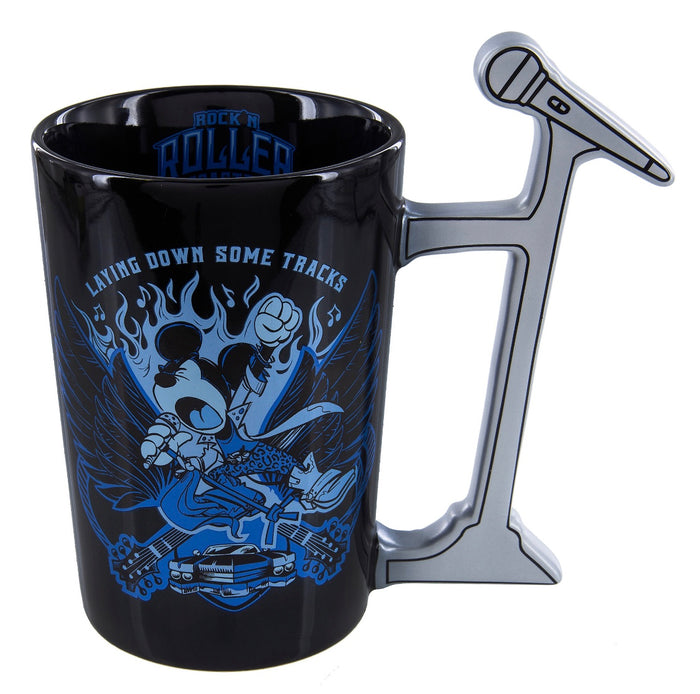 Disney Parks Mickey Laying Down Some Tracks Long Live Rock and Roll Tall Mug New