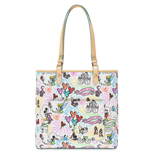 Disney Parks Dooney & Bourke Sketch Tote Fantasyland Castle Mickey New