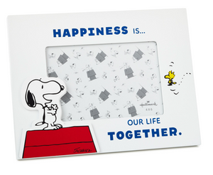 Hallmark Peanuts Snoopy and Woodstock Happiness Picture Frame 4x6 New