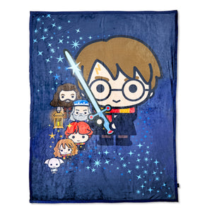 Universal Studios Harry Potter Character Cuties Throw Blanket New with Tag