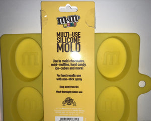 M&M's World Characters Yellow Multi-Use Silicone Mold New with Tags