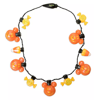 Disney Parks Mickey Mouse Halloween Glow Necklace New with Tags