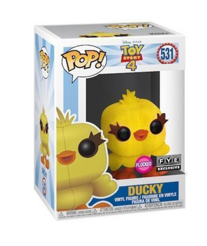 Funko Pop! Disney Toy Story 4 Flocked Ducky Fye Exclusive New with Box