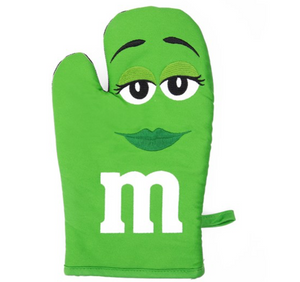 M&M's World Green Character Oven Mitt New with Tag