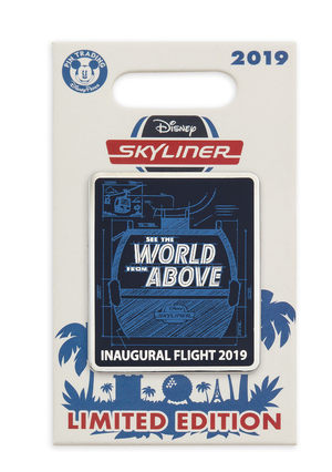 Disney Parks Skyliner See The World From Above Inaugural Flight 2019 Pin Limited Edition