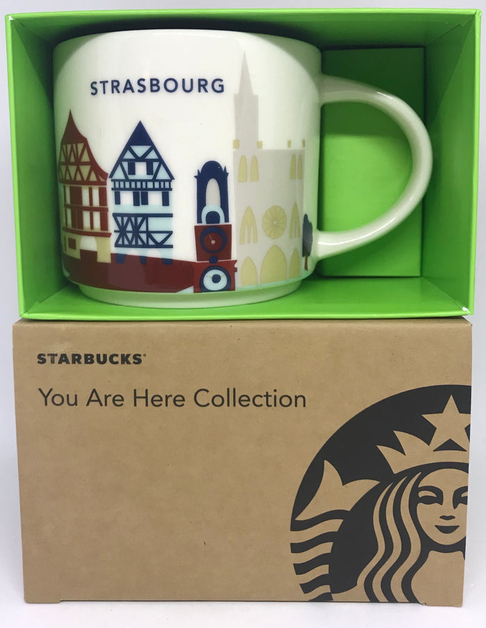 Starbucks You Are Here Strasbourg France Ceramic Coffee Mug New with Box
