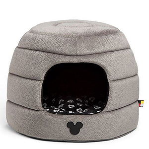 Disney Mickey Mouse Honeycomb Hut Pet Bed Gray Standard New with Tags