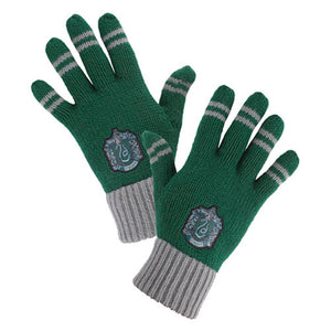 Universal Studios Wizarding World of Harry Potter Slytherin Striped Gloves New