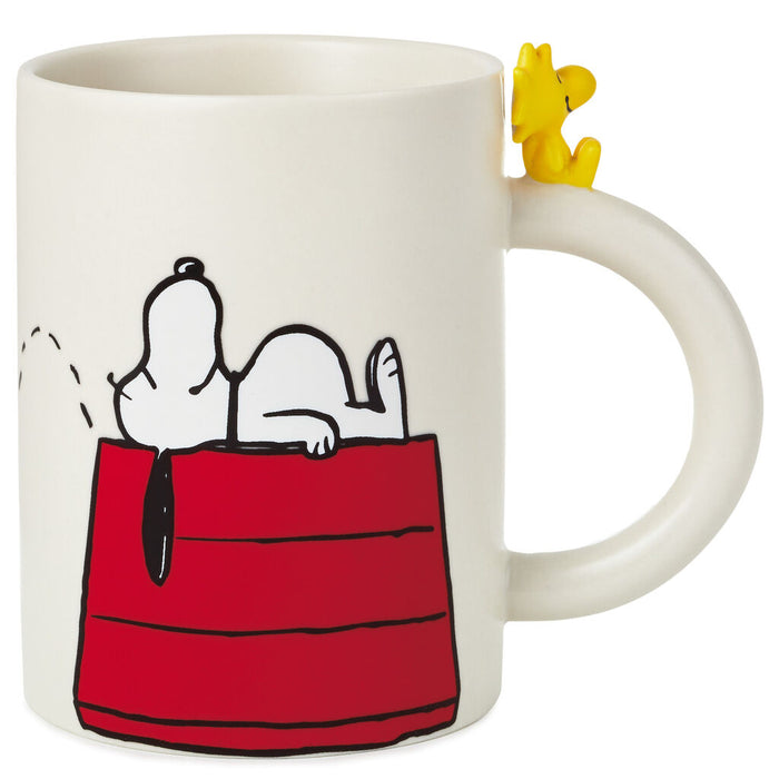 Hallmark Peanuts Dimensional Snoopy and Woodstock Mug New