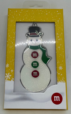 M&M's World Snowman Metal Christmas Ornament New with Tag