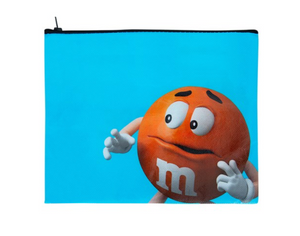 M&M's World Orange Character Nope Nope Nope Nope Recycled Pouch New