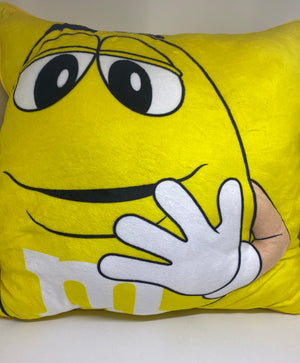 M&M's World Yellow My Brain Has Too Many Tabs Open Pillow Plush New with Tag