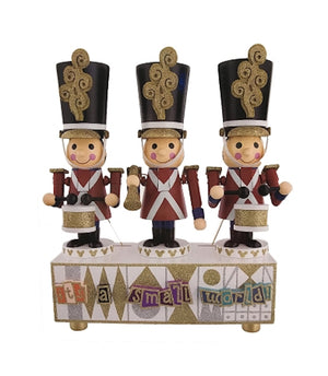 Disney Parks Holiday It's a Small World Musical Nutcrackers New with Box