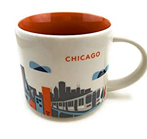 Starbucks You Are Here Chicago Illinois Ceramic Coffee Mug New With Box