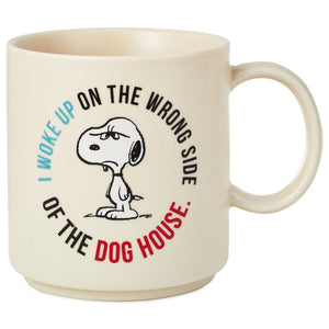 Hallmark Peanuts Snoopy Wrong Side of the Doghouse Coffee Mug New