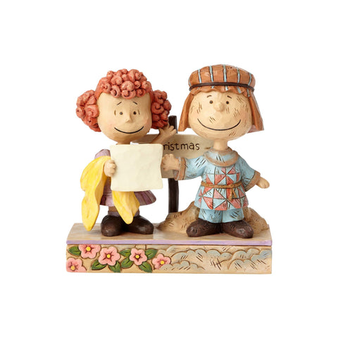 Peanuts Christmas Jim Shore Pig-Pen Frieda as Innkeepers Resin Figurine New Box