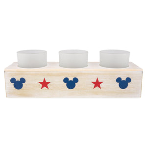 Disney Parks Mickey Mouse Americana Candle Holder New with Box