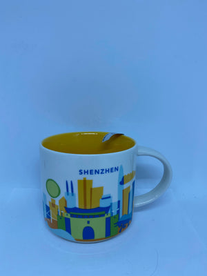Starbucks You Are Here Collection Shenzhen China Ceramic Coffee Mug New With Box