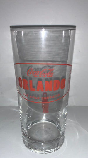 Authentic Coca-Cola Coke Tall Glass Orlando 15.5 oz New