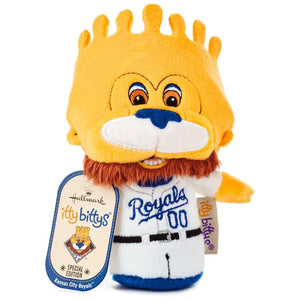 Hallmark MLB Kansas City Royals Mascot Sluggerrr Itty Bittys Plush New with Tag