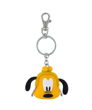 Disney Parks Pluto Coin Purse Silicone Keychain New with Tags
