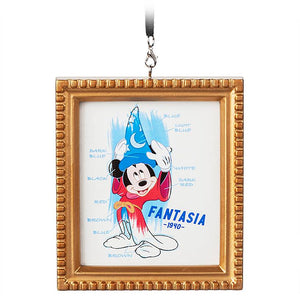 Disney Parks 2020 Ink & Paint Fanstasia 1940 Mickey Canvas Framed Ornament New