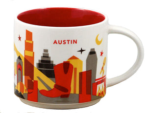 Starbucks You Are Here Austin Texas Ceramic Coffee Mug New With Box