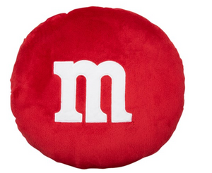 M&M's World Red Pillow M New with Tags