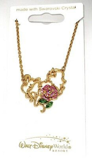 Disney Parks Beauty and the Beast Necklace by Arribas New with Tags