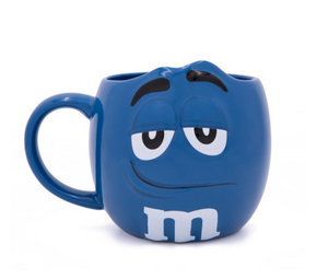 M&M's World Blue Character Figural Coffee Mug New