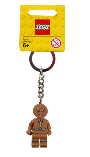 Lego Christmas Iconic Gingerbread Key Chain New with Tag