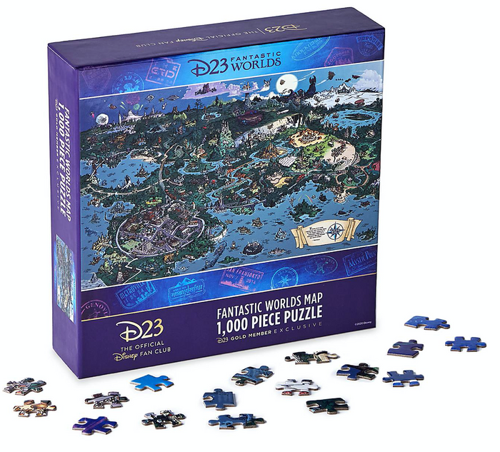 Disney D23 Exclusive Fantastic Worlds Map 1000pcs Limited Puzzle New with Box