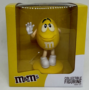 M&M's World Yellow Collectible Figurine New With Box