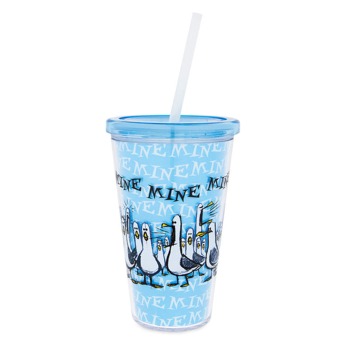 Disney Parks Finding Nemo Seagulls Mine Mine Mine Tumbler with Straw New